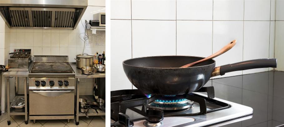 Kommerzielle Küche und Pfanne
