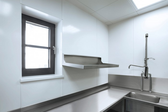 Wandverkleidung mobile Küche