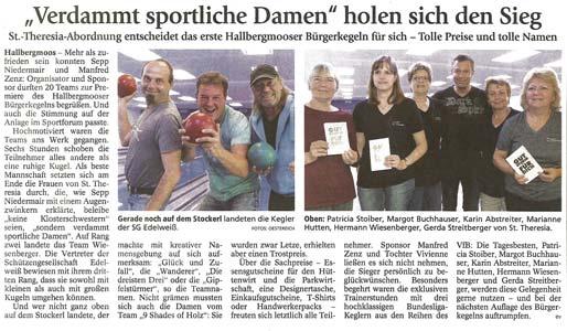Bericht im Freisinger Tagblatt/Münchner Merkur