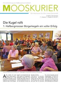 Bericht im Mooskurier (www.mooskurier.de)