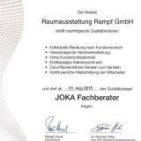 Zertifikat JOKA